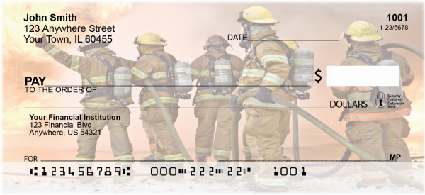 Firemen In Action Personal Checks | BAF-40