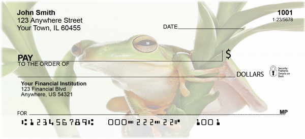 Rain Forest Frogs Personal Checks | BAF-48