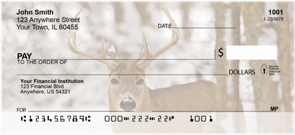 Whitetail Deer Personal Checks | BAF-57