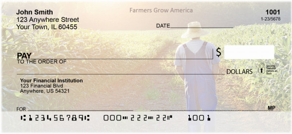 Farmers Grow America Personal Checks | BAF-86