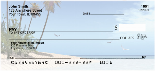 A Touch Of Paradise Personal Checks | BAF-91