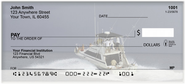 Deep Sea Fishing Personal Checks | BAH-13