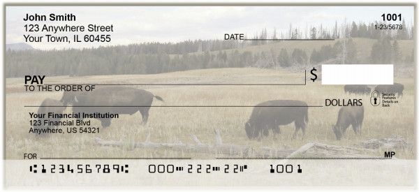 Bison Grazing Personal Checks | BAH-94