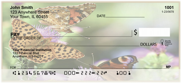 Butterflies and Blooms Personal Checks | BAI-85