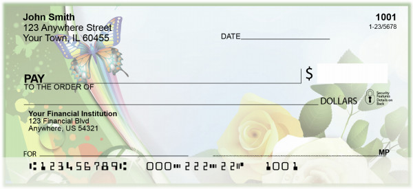 Butterflies and Roses Personal Checks | BAJ-10