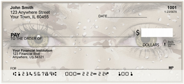 Seeing Camouflage Personal Checks | BAK-16