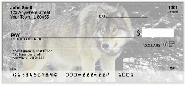 Wolves of The Wild Personal Checks | BAK-25