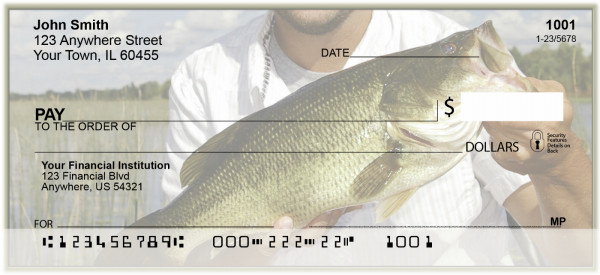 Hooked On Bass Fishing Personal Checks | BAK-46