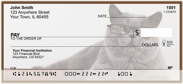 Smart Cats Personal Checks | BAK-60