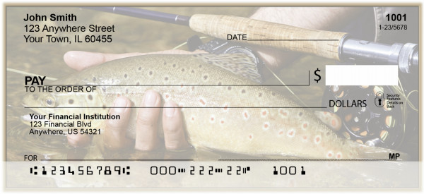 Fly Fishing For Trout Personal Checks | BAK-97