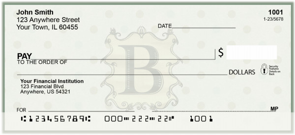 Vintage Monogram B Personal Checks | BAL-87