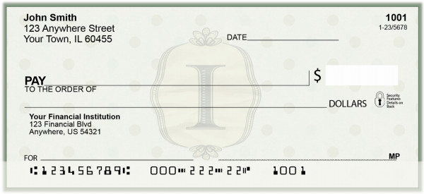Vintage Monogram I Personal Checks | BAL-94
