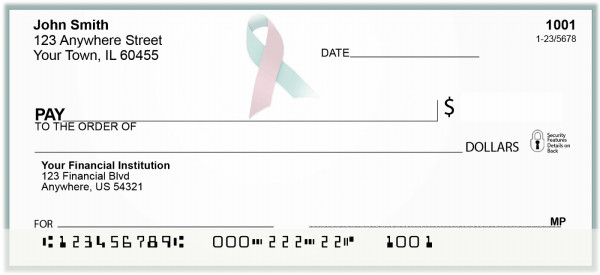 Pink - Blue Ribbon Personal Checks | BAP-48