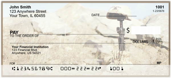 Never Forget Our Heroes Personal Checks | BAP-61