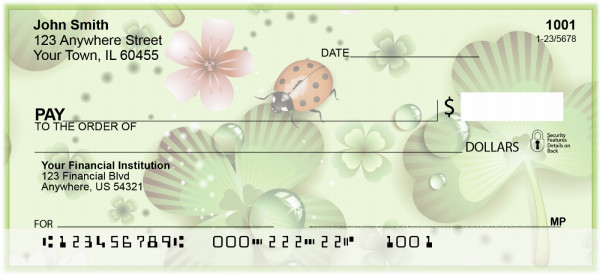 Lucky Ladybugs Personal Checks | BAP-98