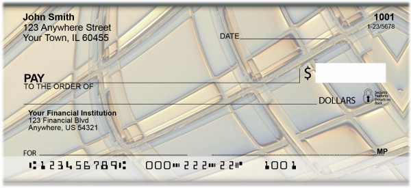 Glass Abstract Personal Checks | BAQ-31