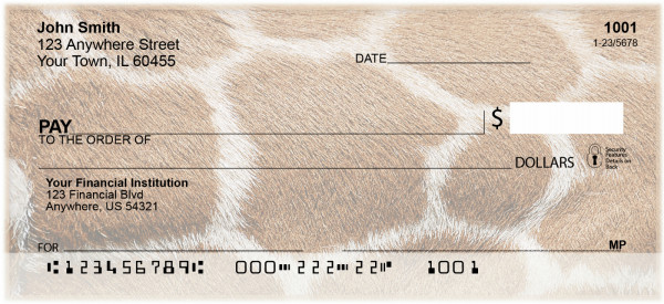 African Animal Prints Personal Checks | BAQ-38