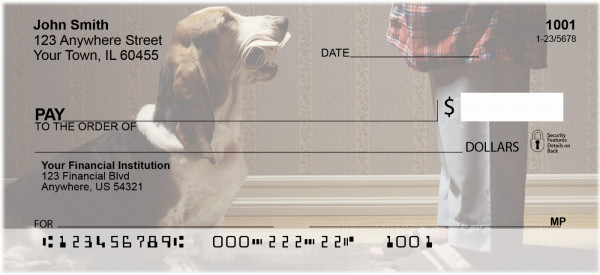 Basset Hound Personal Checks | DOG-71