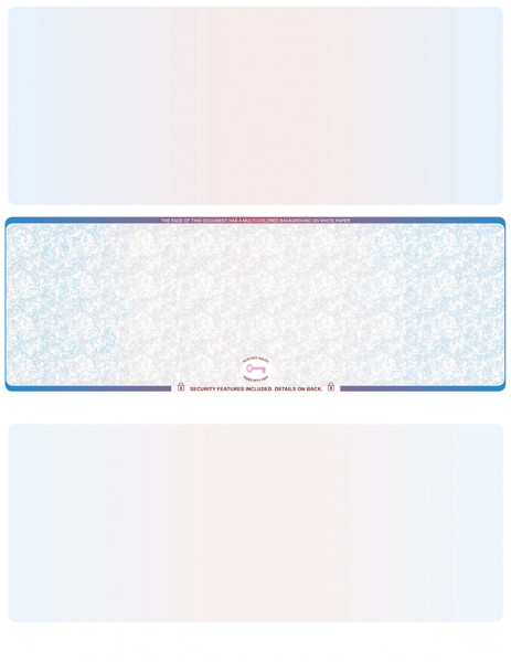 Blue Red Blue Red Blank High Security Middle Laser Checks | LMCHS-BLA-BR