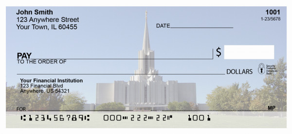 The Jordan River Temple Personal Checks | TEM-04