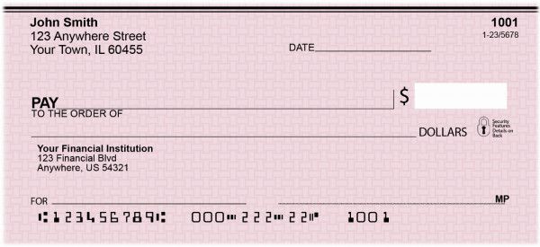Pink Safety Personal Checks | VAL-026
