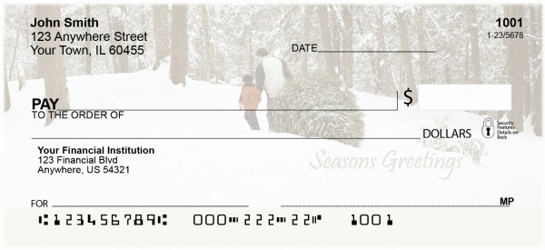 Seasons Greetings Personal Checks | XMS-51