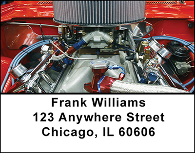 Muscle Car Engines Labels