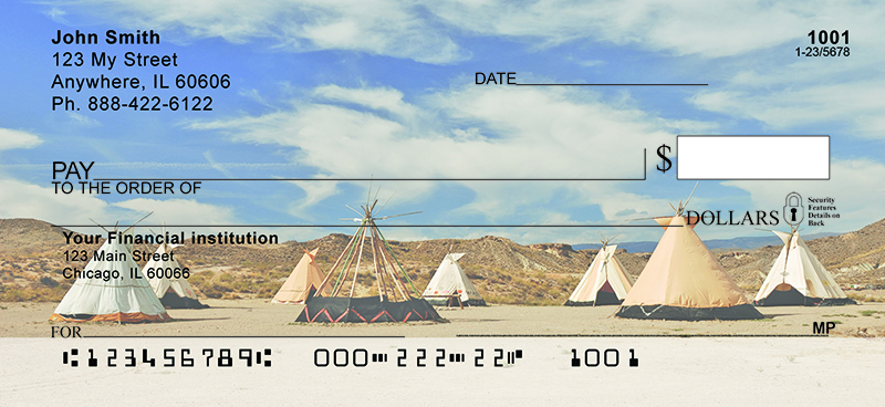 Native American Indian Village Personal Checks