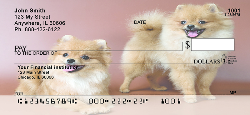 Pomeranian Fun Personal Checks
