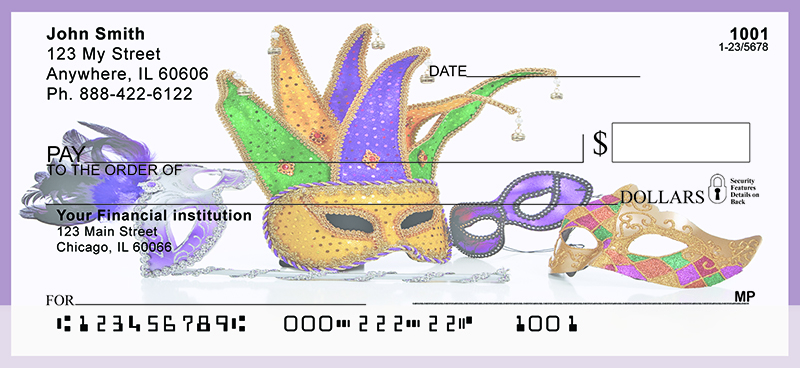 Mardi Gras Fun Personal Checks