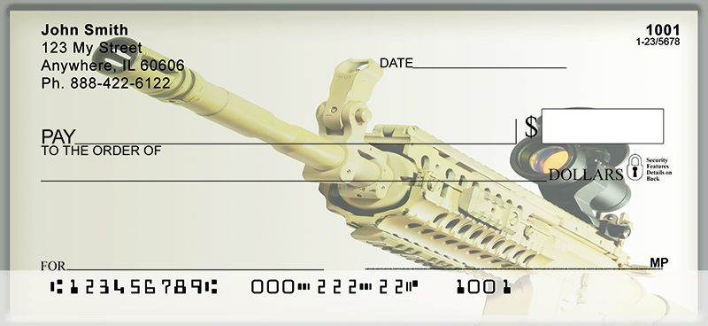 Assault Rifle Fun Personal Checks - Bank Checks Now