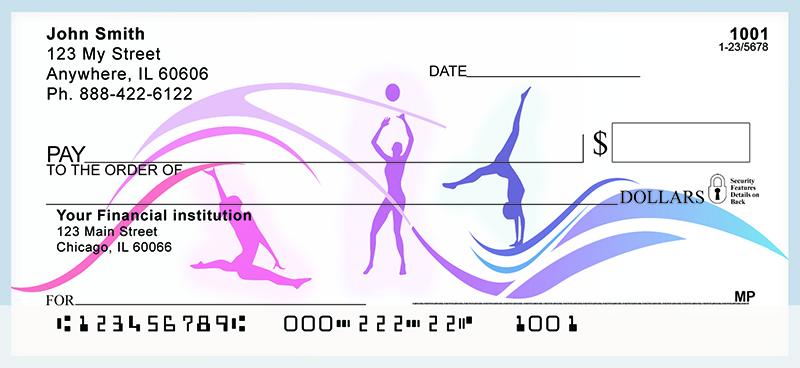 Womens Sports Silhouettes Personal Checks