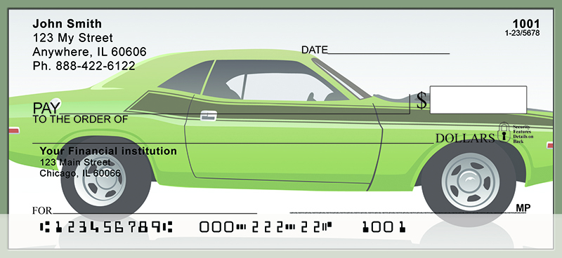 Classic Muscle Cars Personal Checks