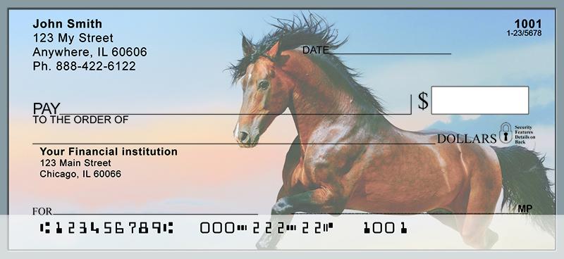 Beautiful Horses Personal Checks Stallions Bank Checks Now