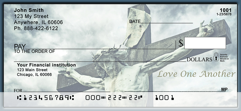 Jesus Died For Us Personal Checks