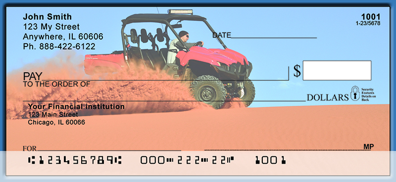 Side By Side 4-Wheeler Fun Personal Checks
