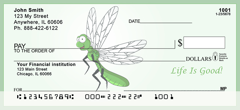 Dragonfly Fun Personal Checks