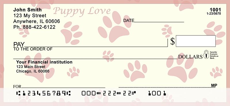 Dog Paw Prints Personal Checks