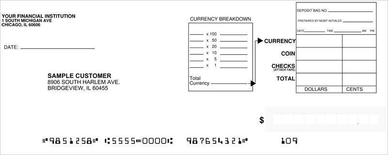how to use a bank deposit book