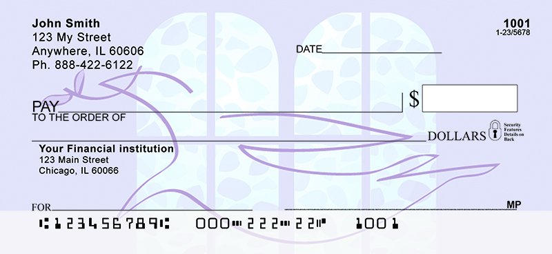 Dove of Peace Personal Checks