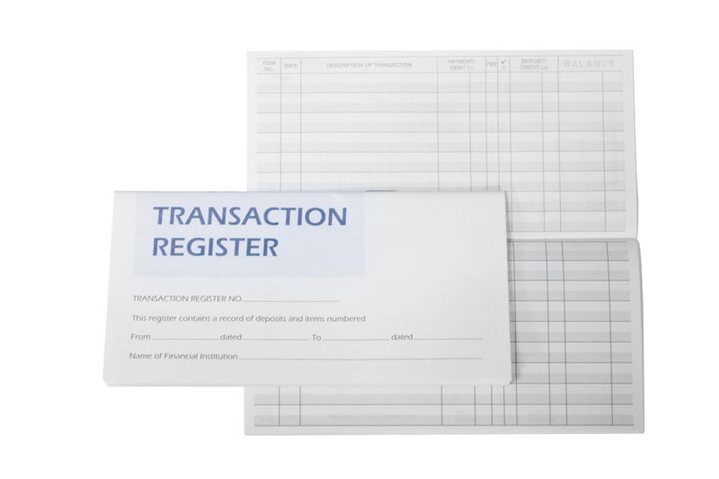 Personal Check Registers