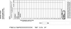 picture about Regions Bank Deposit Slip Printable named Free Deposit Slips