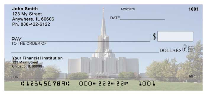 The Jordan River Temple Personal Checks