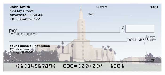 Los Angeles Temple Personal Checks