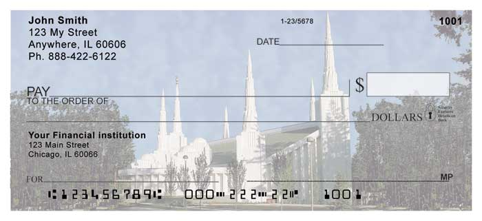 Portland Temple Personal Checks