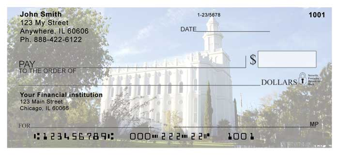 St George Temple Personal Checks