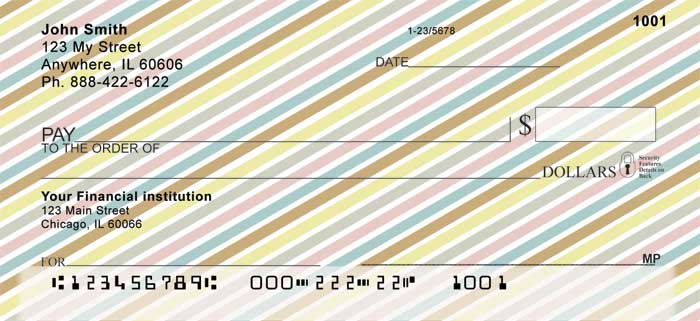 Stripes Personal Checks