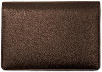 Dark Brown Leather Top Stub Checkbook Cover